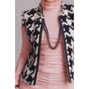 CAbi Houndstooth Vest Style #213 Size XS